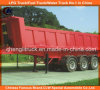 Heavy Duty Tri-Axle Square End Tipping Dumper Truck Trailer