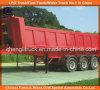Heavy Duty Tri-Axle Square End Tipping Dumper Truck Trailer