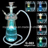 Dubai Al Fakher Glass Hookah Customized Shisha Hookah with LED Lighter