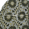 Gold Metallic Embroidery Sun Flower Mesh Lace