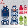 Cheap Custom Latest Design Blue and Gary Color Camo Basketball Jersey