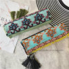 Cheap Wholesale Polyester Lady Scarf with Green Bodhi (HP09)