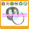 Round Tin Box with PVC Transparent Lid, Metal Tin Can