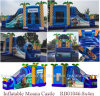 Used Commercial Crazy Moana Bouncer Slide, Inflatable Moana Castle, Vaiana Castle