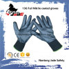 13G Full Black Nitrile Smooth Coated Glove