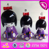 2015 New Invention Kids Wooden Kimono Doll, Lovely Children Wooden Handicraft Kimono Doll, Top Sale Japanese Geisha Dolls W06D069c