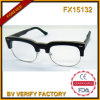 Fx15132 Fashionable Half Frame Wooden Glasses with Custom Brand