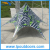 Outdoor Single Top Customs Printing Advertising Canopy Star Shape Tent