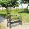Hot Selling Wrought Iron Garden Bench with Archway
