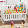 Stripe Rainbow Colour Baby Bedsheet with Pillowcase