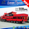 3 Axles 40FT Side Wall Flatbed Container Semi Truck Trailer