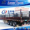 Tri-Axle Heavy Duty Stake Cargo Semi Truck Trailer
