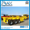 12 Locks Skeleton Semi-Trailer Tri-Axle Container Truck