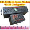 Hi-Speed 16-Channels GPRS Modem Pool with SMS Software