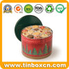 Christmas Metal Tin for Biscuits Cookies Snack Food Storage Box