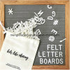 10inch Square Wood Frame Letter Board