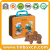 Metal Gift Packaging Chocolate Tin Box with Handle for Lunch