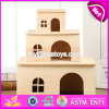 New Products Three Sizes Animals Accessories Natural Wooden Hamster Cages for Sale W06f019