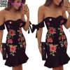 Floral Embroidered Mini Dress L28222