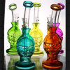 Colorful Faberge Egg Glass Water Pipes Oil Rig Cheap Hookahs