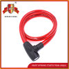 Jq8219 Black and Red Safety Steel Cable Lock Bicycle Lock