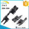 2 to 1 20A-30A TUV-1000V Solar Connector Branch Cable Mc4t-A1