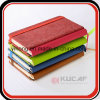 A6 Embossed PU Lined Jotter Notebook with Elastic Closure