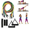 Heavy Duty Anti-Snap 11 PCS Resistance Band Set with Door Anchor, Ankle Strap & Carrying Case