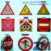 Aluminum Alloy Solar Powered Traffic Sign / Flashing Road Sign