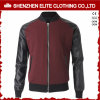 Korean Men Varsity Baseball Jacket Leather Wool