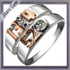 Forever Love 925 Sterling Silver Fashion Wedding Couple Jewelry Ring