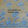 Blue Color 1.35m Width 3D Floral Wedding Lace Fabric for Lady Gown Vl-60070-3dbc