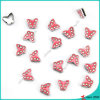 Pink Crystal Butterfly Slider Charms Wholesale (SC16040954)
