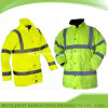 Multiple Pockets Reflective Safety Jacket for Winter