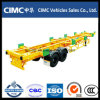 Cimc Double Axles Terminal Port Trailer Skeletal