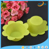 Yellow Flower Shape Horse Fern Cup Silicone Cake Mold