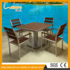 Modern Wooden Patio Balcony Gary Polywood Aluminum Leisure Cafe Bistro Chair Table Set Garden Outdoor Patio Dining Furniture