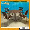 Wooden Patio Balcony Garden Furniture Gary Aluminum Cafe Bistro Chair Table Set