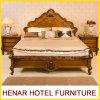 American Oak Wooden Hotel Bedroom Furniture /King Panel Bed