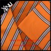 Handmade Men Jacquard Woven Silk Tie with Matching Scarf