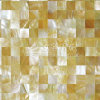 Yellow Lip Mop Shell 15*15mm Square Mosaic Tile