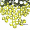 Lemon Yellow Colour Rhinestone Crystal Nail Art Acrylic Stickers Diamond Gems Stones