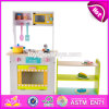New Design Funny Kids Wooden Kitchen Play Set with Shelf W10c270