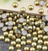 Aurum Nail Pearl Decoration Glitter Nail Rhinestone Decoration Tools Half Round Pearls ABS Pearl (TP-aurum nail rhinestone)