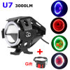 Wholesale Price with Switch High Low Beam 30W 3000lm Max CREE U7 Motorcycle Headlight