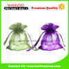 Promotional Fashion Reusable Cosmetic Organza Bag with Zipper Closure