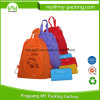 Cheap PP Non-Woven Folded Pocket Drawstring Bag for Promotion