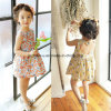 High Quality Printing Flower Girls Dress Sleeveless Children Wear