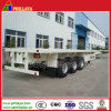 Container Transport 20FT 40FT Tri-Axle Flatbed Semi Trailer