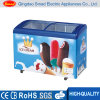 Top Open Sliding Glass Door Ice Cream Chest Freezer